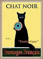 ポスター ケン ベイリー Chat Noir 額装品 ウッドベーシックフレーム(オフホワイト)