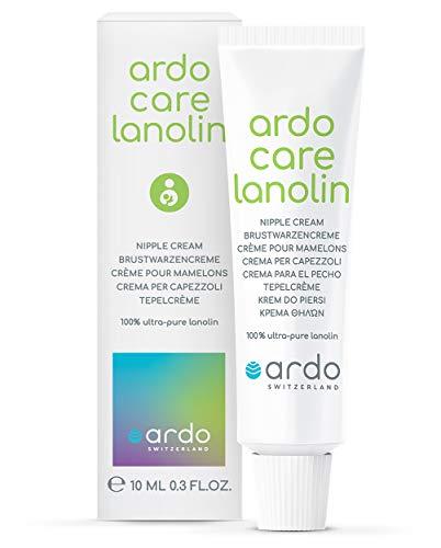 Ardo Care Lanolin 10 ml, schützt und pflegt empfindliche, wunde Brustwarzen, ultra-reines Lanolin, geruchs- und geschmacksneutral, cremige Konsistenz, leicht aufzutragen