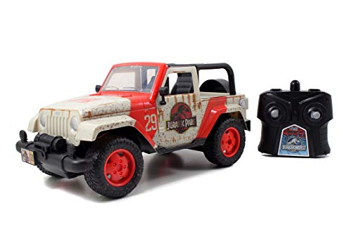 Jada Toys Jurassic World 1:16 Wrangler RC Remote Control Car 2.4 GHz, toys for kids and adults, 97054