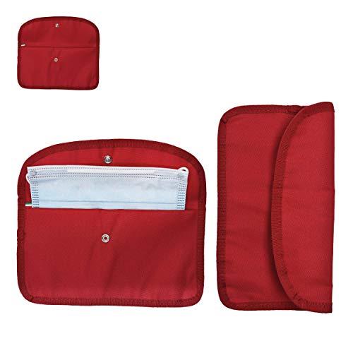 2X Modische Masken-Tasche für Damen & Herren | Alternative zur Maskenbox für Mundschutz & Aufbewahrungsbox für Masken | Ideal zur Vermeidung von Maskenverschmutzung für Unterwegs Schule Büro
