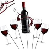Zatiki Outdoor Wine Glass Holders, Outdoor Wine Accessories, Outdoor Drink Holder Stakes, Wine Holder and Glass Set, Wine Holders Picnic, Camping Wine Bottle, Wine Bottle & Cup Stakes Holder Rack