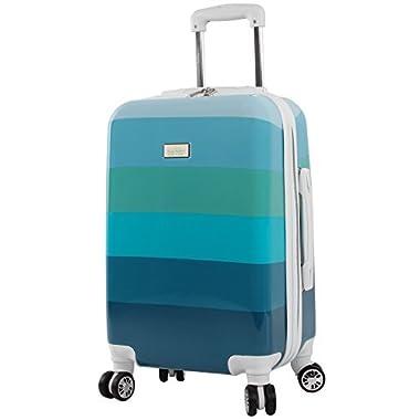 Nicole Miller Rainbow 20  Hard-Sided Luggage Spinner (Sea Glass)