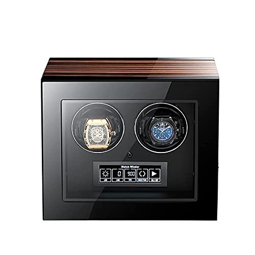 WBJLG Enrollador de Reloj automático con Control Remoto con Ajuste de 5 Modos de rotación con Motor súper silencioso Alimentado por Motor Mediante Adaptador de CA o Caja de Almacenamiento de bater