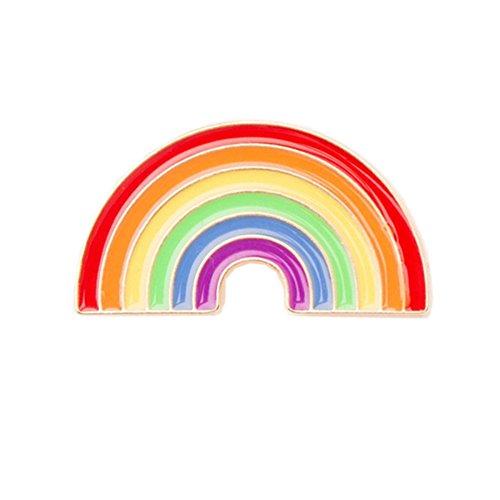 Toruiwa Brosche Rainbow Brooch Regenbogen Pin Geschenk Schmuck Kleidung Zubehör Corsage Anstecknadel LGBT Support Peace Gay Pride Diversity Abzeichen