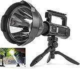 Rechargeable Spotlight Flashlight, 90000 Lumen LED Super Bright Searchlight, 4...