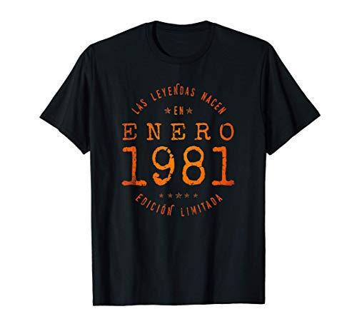 Las Leyendas nacen en Enero de 1981 - Regalo de 40 años Camiseta