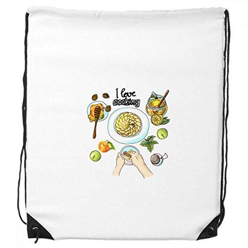 DIYthinker Ich Liebe Das Kochen geschlagene Eier Honig-Rucksack Einkauf Gift Sporttaschen