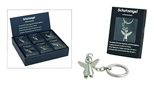 Schlüsselanhänger Schutzengel Angel Guardian in silber matt