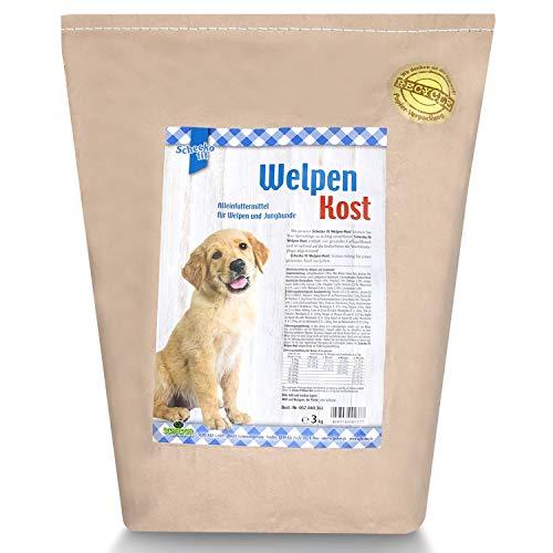 Schecko fit Welpenkost Trockenfutter - 3kg - in 3 verschiedenen Alterssorten erhältlich - speziell für Welpen und Junghunde - hoher Proteingehalt - wertvolle Inhalte