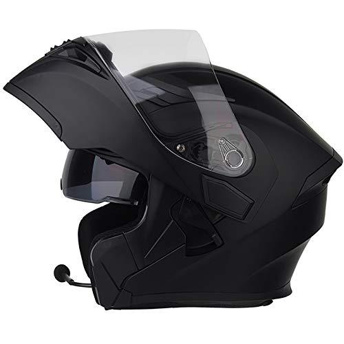 SJAPEX Caschi Apribili e Modulari con Auricolare Bluetooth, Leggero Caschi Integrali Full-Face Helmet con Doppia Visiera, per Motocross Motard Cruiser Urbano, ECE e DOT Certificato