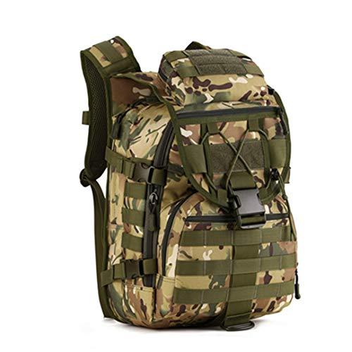 Motorhelay Sac à Dos 40L Tactique Militaire Nylon imperméable Sports Plein air Camping Randonnée Pêche Chasse Sac CP 30-40L