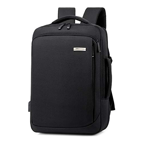 Laptop Backpack for Women Men,Business Bags School College Backpack with USB Charging Port Fashion Backpack (Color : Black)