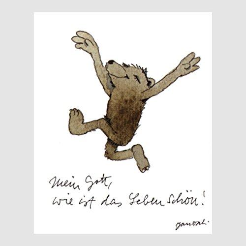 Kunstdruck Janosch - Leben schön 40 x 30 cm ohne Rahmen