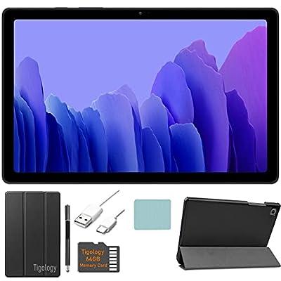 2020 Samsung Galaxy Tab A7 10.4'' (2000x1200) TFT Display Wi-Fi Tablet Bundle, Qualcomm Snapdragon 662, 3GB RAM, Bluetooth, Dolby Atmos Audio, Android 10 OS w/Tigology Accessories (64GB, Gray) by Samsung