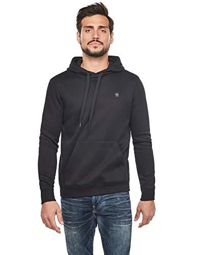 G-STAR RAW Herren Hooded Sweatshirt Premium Core, Dk Black C235-6484, M