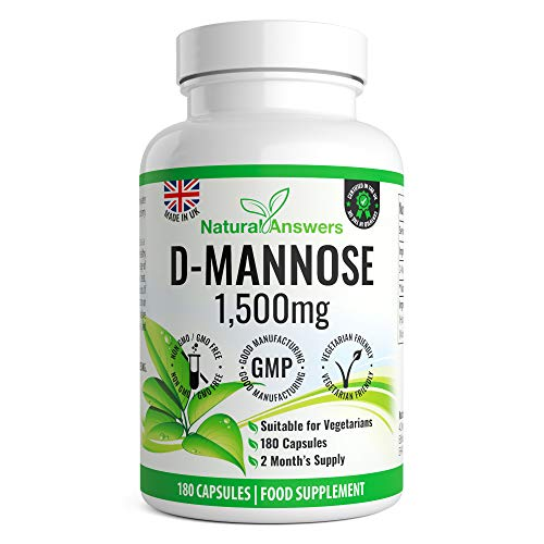 D-Mannose 500mg Capsules 180 Vegetarian Capsules Precision Targeted Release for Men & Women UK Manufactured by Natural Answers | D-Mannose Capsules | D-Mannose UK | D-Mannose Powder