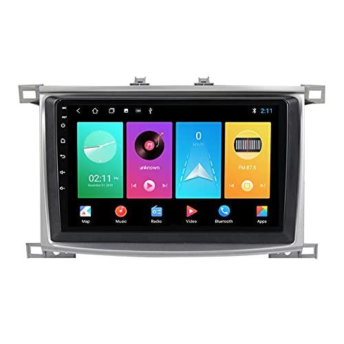 ADMLZQQ para Toyota Land Cruiser 100 2002-2007 Android 10.0 In-Dash Car Stereo Radio, Pantalla Táctil 9 Pulgadas Bluetooth Carplay FM Am RDS DSP GPS Control Volante Cámara Trasera,A,M100S 4Core 1+16G