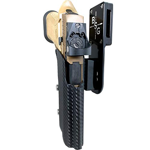 Black Scorpion Outdoor Gear Pro Heavy Duty Competition Holster OWB Kydex fits Sig Sauer P320 Compact/Full X5, X5 Legion | 3Gun IPSC USPSA Approved (Black/Carbon Fiber)
