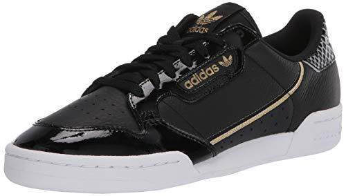 adidas Originals Continental 80 W, Scarpe dcollet Donna, Core Nero Ftwr Bianca Oro Met, 39 1/3 EU
