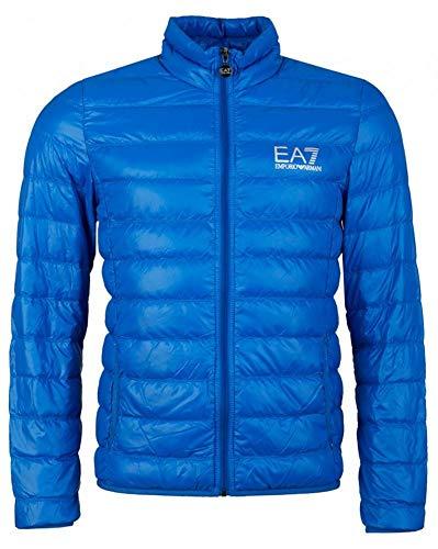 EA7 Emporio Armani Herren Lightweight Daunenjacke - Super leichte Jacke Übergangsjacke Steppjacke mit Daunenfüllung und Stehkragen, Farbe:Blau;Größe:XXL