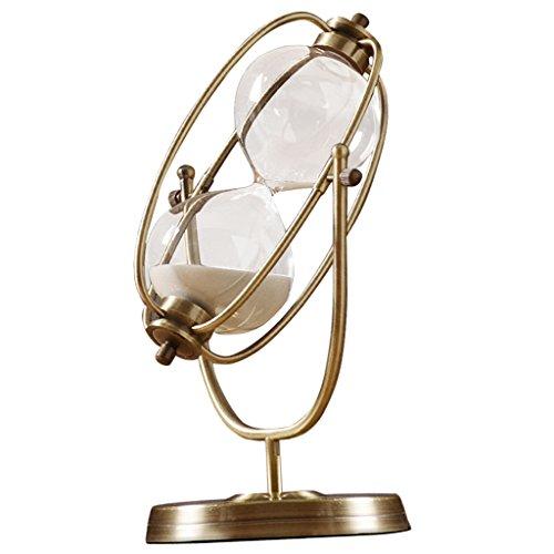 Homyl 15/30/60 Minuten Golden Glas Sanduhr Sand Uhr Timer Dekoration für Wohnzimmer Kinderzimmer - Rotierende 30 Minuten