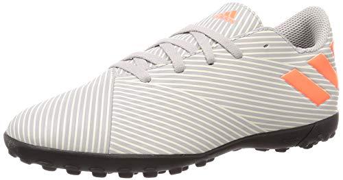 Adidas Nemeziz 19.4 TF J, Botas de fútbol Unisex niño, Multicolor (Grey Two F17 / Solar Orange/Chalk White Grey Two F17 / Solar Orange/Chalk White), 34 EU