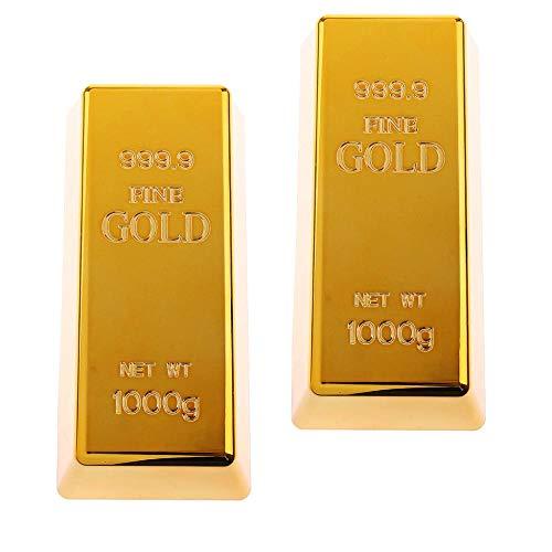 AEM Gold Türstopper Tür 2 Stück Briefbeschwerer Hohlziegel gefälschte Goldbarren Goldbarren