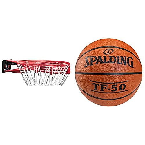Spalding NBA Slam Jam Rim (78-00SCNR) aro de Acero, Unisex Adulto, Rojo, NOSIZE