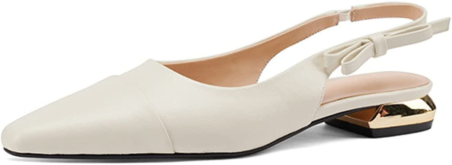 Womens Stylish Weekly update Slingback Dress 70% OFF Outlet Sandals Closed Chunky Pumps Toe L
