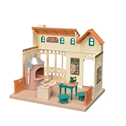 Calico Critters Village Pizzeria Playset, Over 30 Accessories