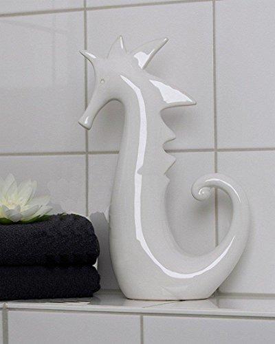 Casablanca Seepferdchen,weiß,glänzend,Keramik