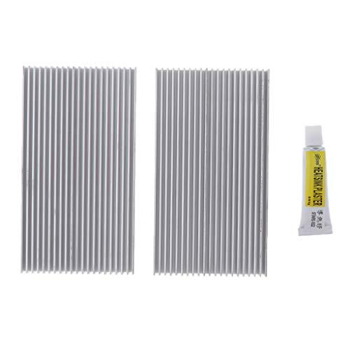 IPOTCH Ventilador de Refrigeración IC Kit de Accesorios para Disipador de Calor Aleta Más Fría para Luz LED 100x55x10mm