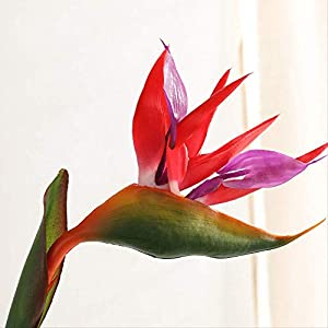 DSWJH Artificial Flower Artificial Flower Bird of Paradise Fake Flower Home Wedding Party Decoration Bright
