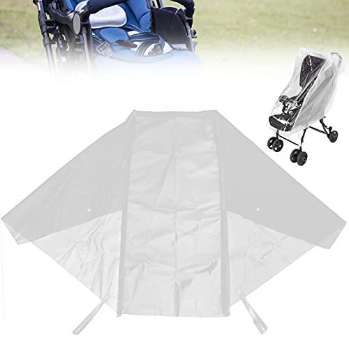 Protector resistente a la intemperie, diseño universal, grandes ventanas transparentes, para cochecito, para lluvia, para jogging, para cochecitos individuales para cochecitos(L)