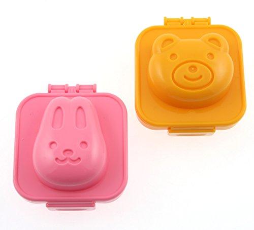 Kotobuki Plastic Egg Mold, Rabbit and Bear