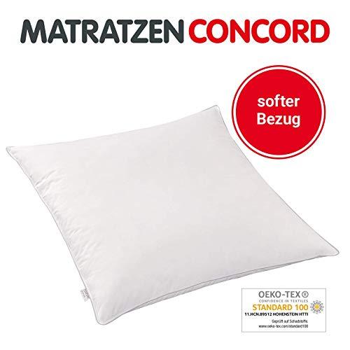 Matratzen Concord Premium 85/15 Kopfkissen Federkissen Daunenkissen mit Baumwollbezug öko tex, waschbar, 80 x 80 cm