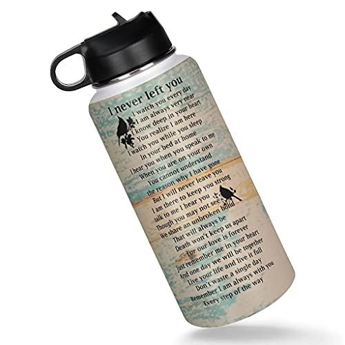 Haythan Taza de café, termo deportivo I Never Left You portátil, para oficina, termo blanco, 1000 ml