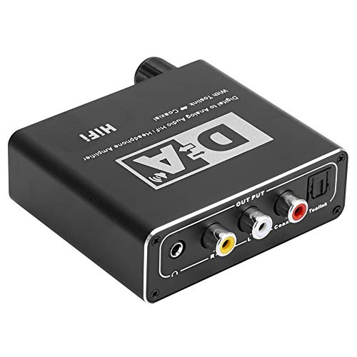 SHYEKYO Decodificador de Audio de Alto Rendimiento Robusto, Compatible con HDTV, Compatible con Sistema de Cine en casa