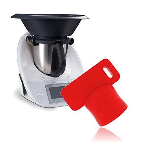 Liebspecht® Premium Teiglöser für Thermomix TM6 und TM5 [Made in Germany] - Das optimale Thermomix Zubehör - Die Teigblume für Ihre Küchenmaschine von Vorwerk -TM5, TM6 Zubehör (Rot)