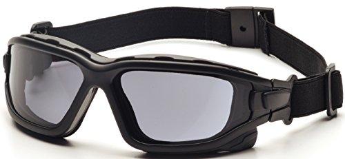 Pyramex I-Force Slim Safety Goggle, Black Frame/Gray Anti-Fog Lens