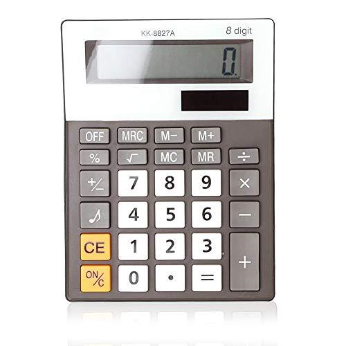 Student Elektronische rekenmachine, bureau-muziek- en beep-voice calculator met 8-cijferig beeldscherm en eenvoudig design (zonder accu)