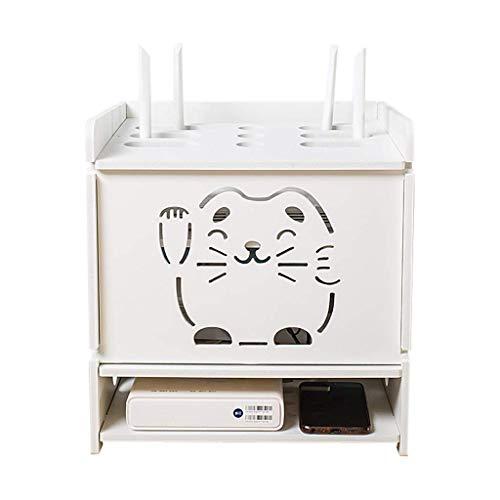 Geyao Good Home - Caja de almacenamiento para TV con diseño de gato de la suerte con WiFi