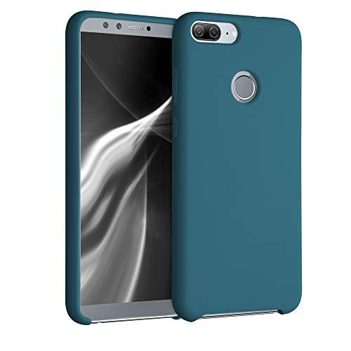 kwmobile Custodia Compatibile con Honor 9 Lite - Cover in Silicone TPU - Back Case per Smartphone - Protezione Gommata Petrolio Matt