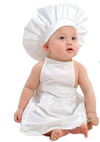 Vovotrade® Bambino Bianco Cook Costume Foto Prop Fotografia Newborn Cappello Grembiule