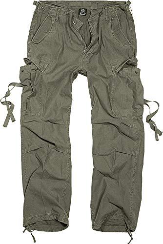 Brandit M65 Vintage Pantalón Cargo de Hombre - Oliva, 6XL
