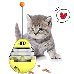 &#60 Cat Tumbler Toy Ball &#62 The top ball attracts pets to play,transparent visual housing,tumbler design, Slow Food leakage. &#60 Slow Feed to Keep Health &#62 Adjust the size of the leakage 1-2 food hole according to your needs,Controls how quick...