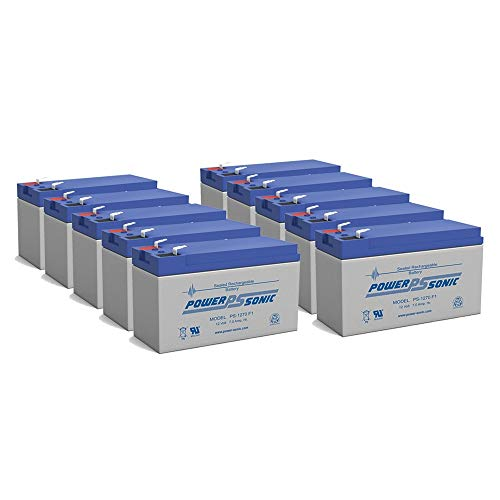 Power Sonic 12V 7Ah Battery Replacement for CyberPower CPS500SL, 525SL - 10 Pack