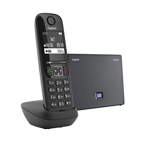 Gigaset AS 690 IP Telefono Cordless per Chiamate VoIP e Telefonia Fissa, Nero [Italia]