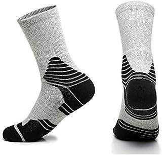 MAXJCN 2 pares de calcetines deportivos con fondo de toalla for hombres Calcetines deportivos de bádminton gruesos antideslizantes Elite Calcetines de baloncesto profesionales for hombres al aire libr