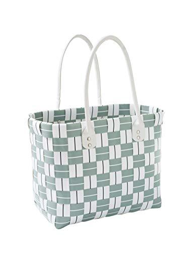 Kobolo Tasche Einkaufstasche Einkaufskorb Kunststoff Shopper Lockardi Stripes XL